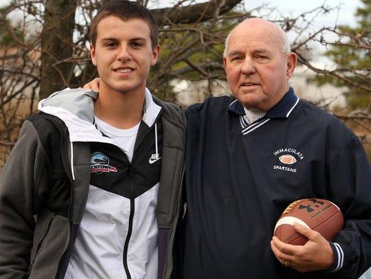 Pierce Frauenheim with his grandson Patrick Frauenheim