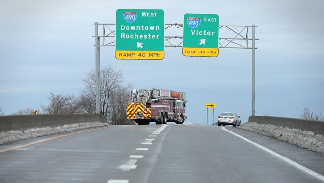 Freezing rain in the Rochester area caused numerous accidents on Dec. 26, 2016.   Lanes have been closed on Route 590 north to Interstate 490 westbound.