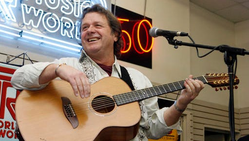 FILE - In this Thursday, April 17, 2008 file photo, John Wetton performs with the band Asia at a music store in New York. Singer and bassist John Wetton of the rock group Asia has died. He was 67. A statement from his publicist, Glass Onyon PR, says Wetton died Tuesday, Jan. 31, 2017 from colon cancer.