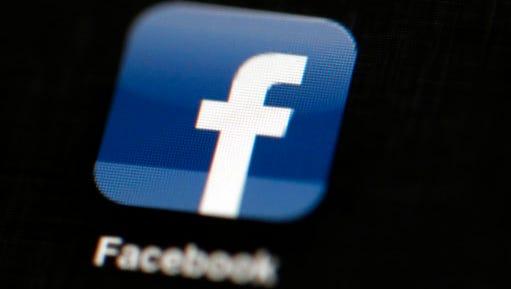Facebook logo icon.