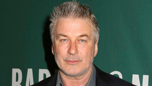 """Actor and author Alec Baldwin appears at Barnes & Noble Union Square to sign copies of his new book, """"Nevertheless: A Memoir"""", on Tuesday, April 4, 2017, in New York."""