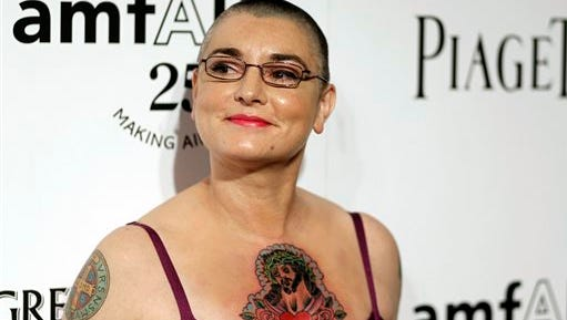 Irish musician Sinead O'Connor arrives at amfAR's Inspiration Gala in Los Angeles. O'Connor is working on a memoir that will come out in March 2016, Blue Rider Press announced Tuesday. The book is currently untitled.