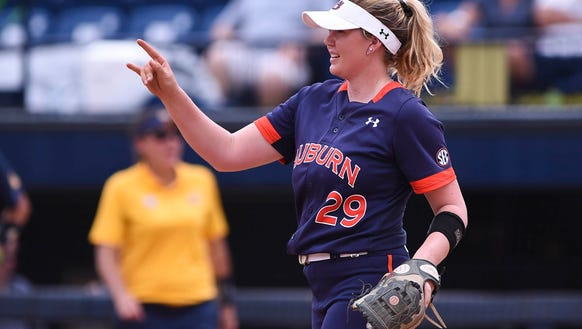 Makayla Martin (29). Auburn Tigers softball vs Cal