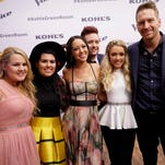 """The Voice"" Top 9 consists of (from left) Zach Seabaugh, Emily Ann Roberts, Barrett Baber, Braiden Sunshine, Jeffery Austin, Shelby Brown, Amy Vachal, Jordan Smith and Madi Davis."