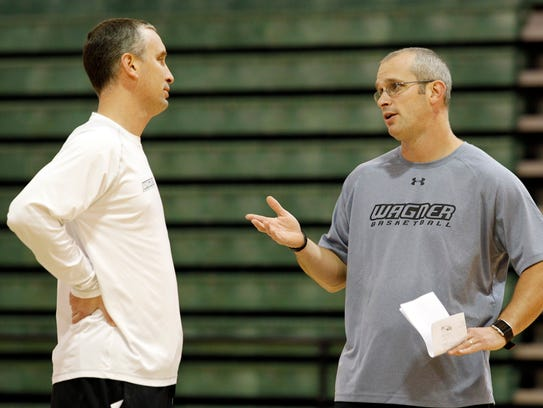 Bob Hurley, left, and Dan Hurley, right, both coached