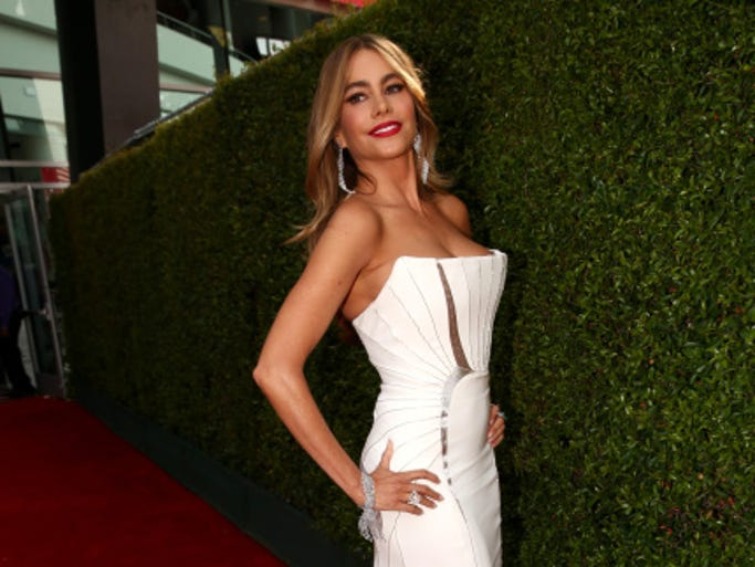 LOS ANGELES, CA - AUGUST 25:  66th ANNUAL PRIMETIME EMMY AWARDS -- Pictured: Actress Sofia Vergara arrives to the 66th Annual Primetime Emmy Awards held at the Nokia Theater on August 25, 2014.  (Photo by Christopher Polk/NBC/NBC via Getty Images)