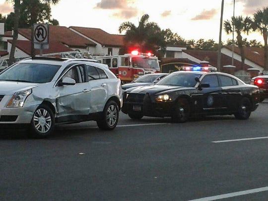 Scene of a crash on North Wickham Road.