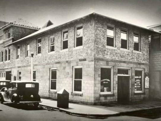 Citizens Bank in 1934 on the corner of St. Lucie and