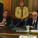 Iowa Medicaid Director Mikki Stier on Tuesday, Oct. 3, 2015, during the inaugural meeting of the Legislature's Health Policy Oversight Committee.