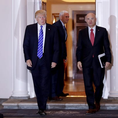 President-elect Donald Trump and Andy Puzder, chief