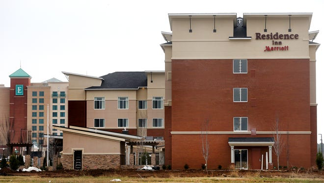 The Residence Inn Marriott is one of the newer hotels in Murfreesboro can be seen in this file photo. The Embassy Suites Murfreesboro Hotel & Conference Center can be seen in the background.