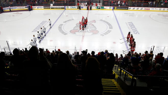 Binghamton Devils host the Toronto Marlies at the Floyd L. Maines Veterans Memorial, Binghamton, January 20, 2018.