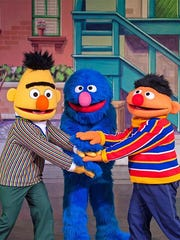 Kristin Burt joined Bert, Ernie and Grover on stage in a recent stop in Grand Rapids.