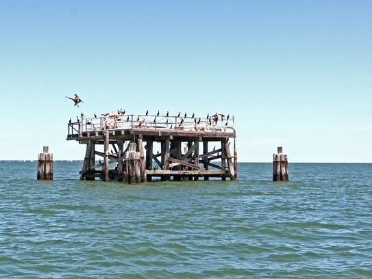 The oil/gas platforms in Aransas Bay held plenty of