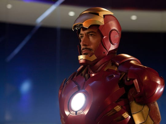 """Robert Downey, Jr. suits up in """"Iron Man"""" (2008)."""