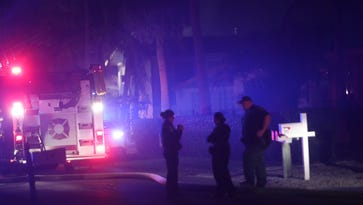 A trip to the emergency room likely saved the owner of a home that burned up on Fort Myers Beach