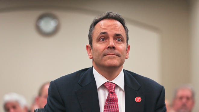 Kentucky Gov. Matt Bevin joined others in education and workforce development at Franklin County High in Frankfort to announce a new vocational effort for high school students.