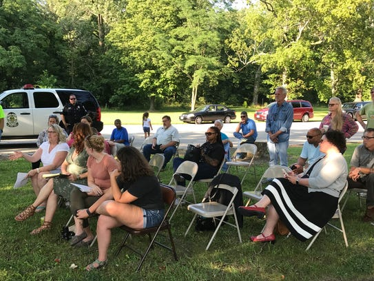 Area residents gathered at a meeting of Friends of