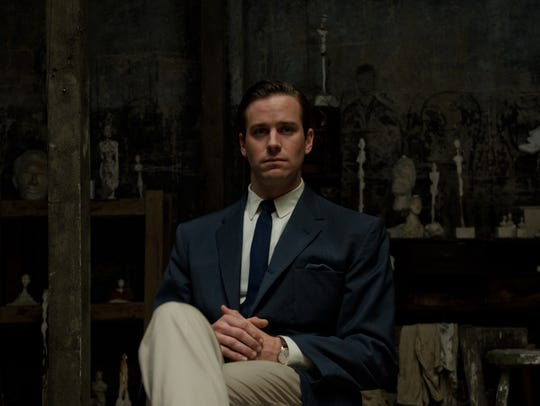 """Armie Hammer as James Lord in """"Final Portrait."""""""
