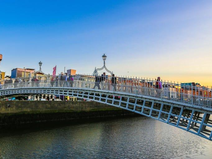 Ha'Penny Bridge is one of many along Ireland's streets.