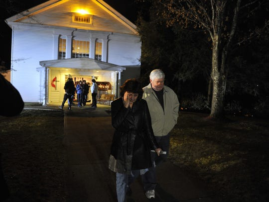 A prayer vigil was held at the Newtown United Methodist