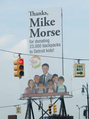 A billboard for attorney Mike Morse can be seen on