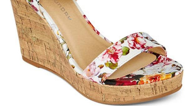 I don't want to tell you how to live your life, but stilettos at Steeplechase are never a good idea. If you require height, go with a wedge, like this cute floral number by Chinese Laundry. CL by Laundry Infinity floral wedge, $39.99, Off Broadway Shoes, 118 16th Ave. S., Nashville. www.offbroadwayshoes.com; 6152546242