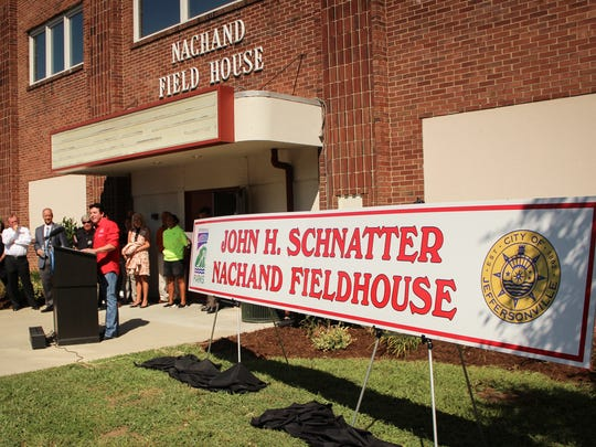 """""""Papa John"""" Schnatter donated $800,000 on Wednesday to ongoing efforts to renovate the Nachand Fieldhouse in his hometown of Jeffersonville, Indiana."""