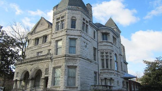One of the finest homes built on Louisville's St. James Court was an opulent limestone mansion designed for  Theophile Conrad circa 1893 by Arthur Loomis.  That mansion is known today as the Conrad Caldwell House Museum.