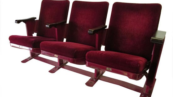 Seats from Music Hall are being offered for sale.