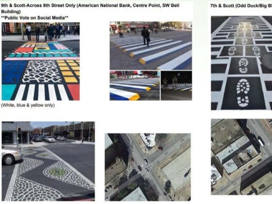 Design ideas and intersections for crosswalk art that