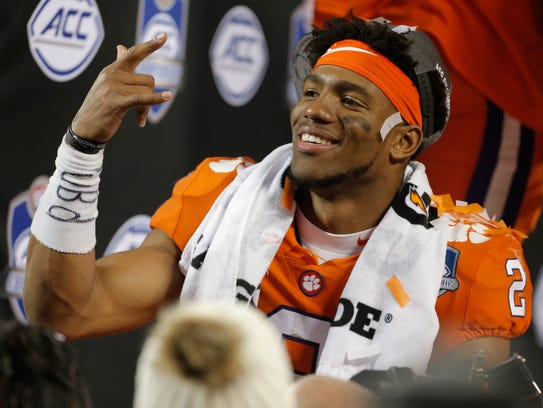 Clemson's Kelly Bryant after winning the ACC title