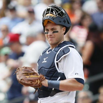 Detroit Tigers' James McCann on Sept. 6.