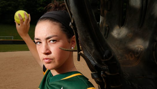 Lakeland High School softball pitcher Colleen Walsh