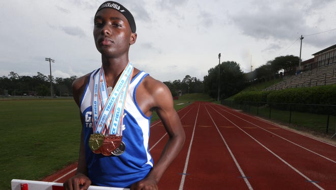 Godby senior Tyricke Dickens is the 2017 All-Big Bend Runner of the Year for boys track and field after winning a state title in the 110-meter high hurdles and scoring top area times in two events.