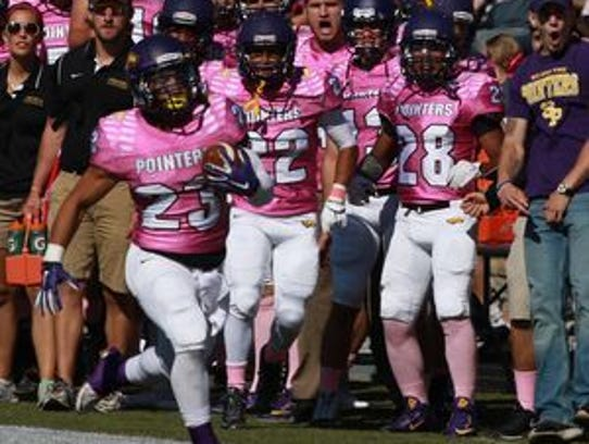 The UW-Stevens Point football team's annual Pink Game