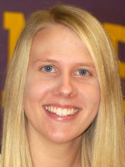 Sarah Bast is adapting to the college game as a freshman