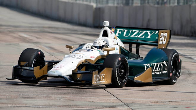 Ed Carpenter reports that his No. 20 Fuzzy's Vodka Chevrolet was not damaged from a fire Wednesday morning.