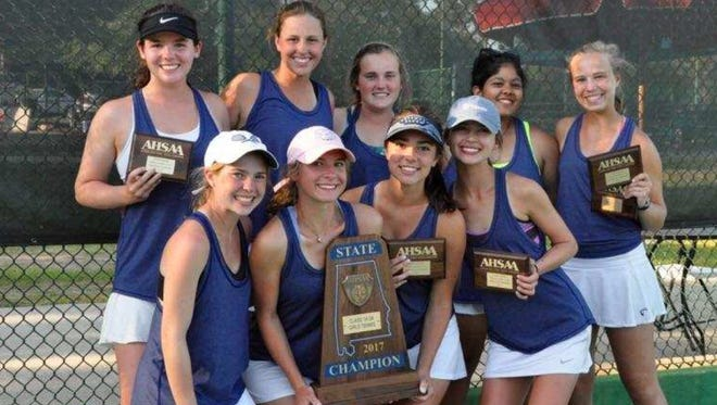 Montgomery Academy won its fifth Class 1A-3A girls tennis state title in the last six years.
