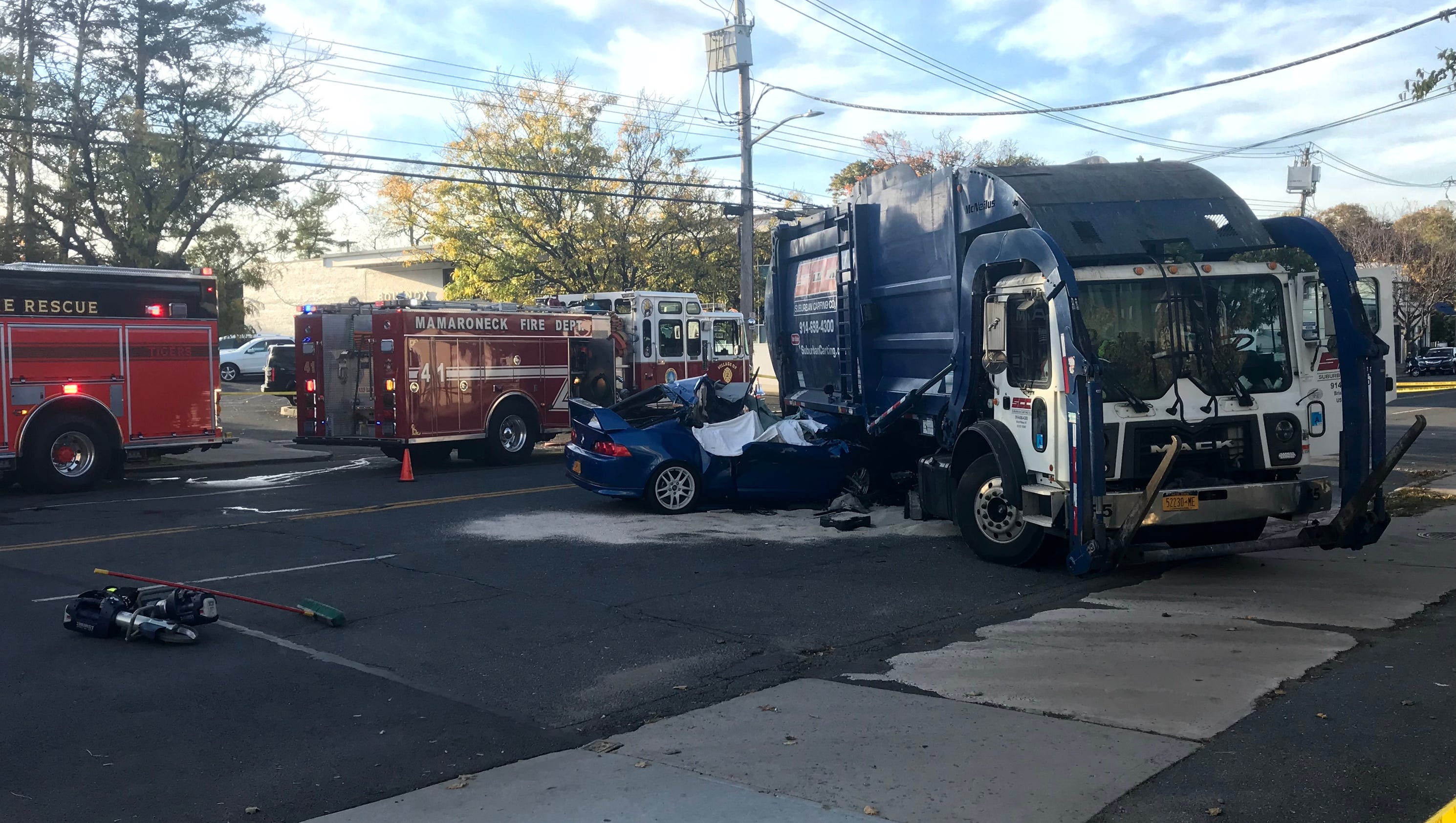Two Dead In Crash With Garbage Truck Near Mamaroneck High