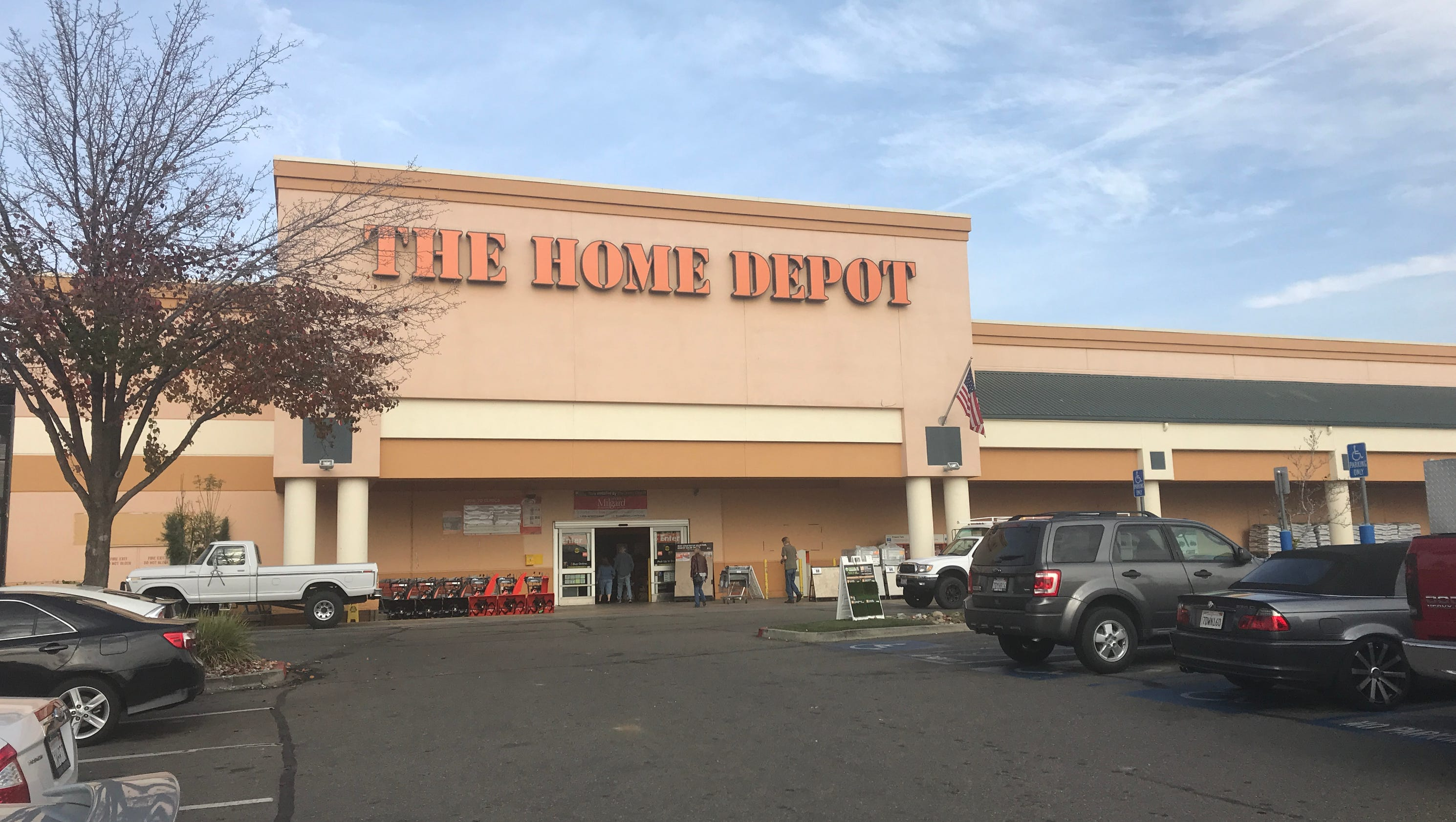 Home Depot has plan to ac modate outdoor storage