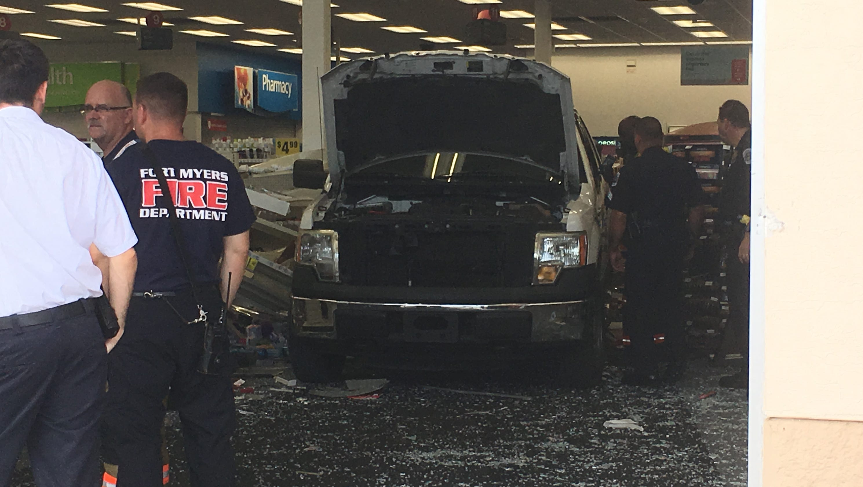 fort myers police investigating incident that left car inside cvs