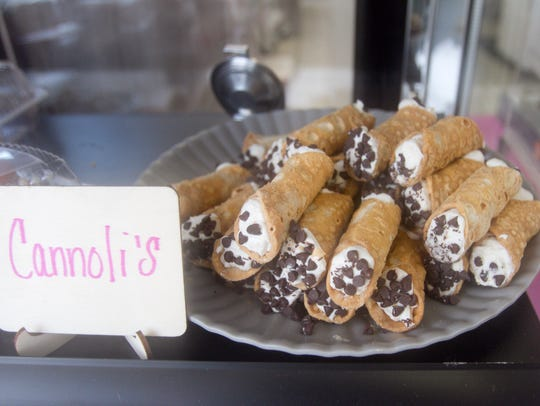 Cannolis are among the day's fare at Scratch Sweet