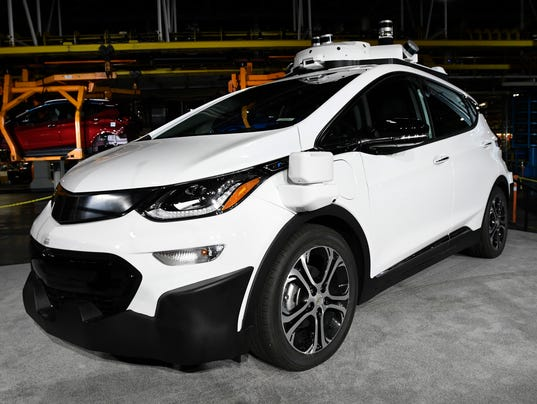 Self-driving Chevrolet Bolt EV