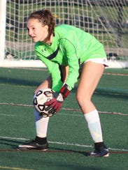 Sophomore goalie Maya Nesti helped Seaholm maintain