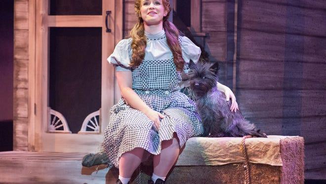 "Adrienne Eller stars in Walnut Street Theatre's ""Wizard of Oz."""