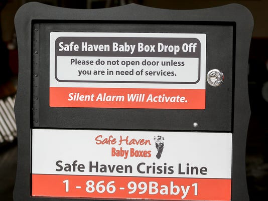 Safely and anonymously surrender healthy newborns with Safe Haven Baby Box at Decatur Township Fire Department No. 74