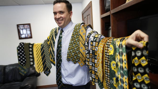 WGBA chief meteorologist Cameron Moreland has a collection of 25 Packers ties. He wears a different one each Friday on the air at NBC26 during the season and is currently in the midst of his Packers Tie Playoff-Palooza in which he wears one daily as long as the Packers are still playing.