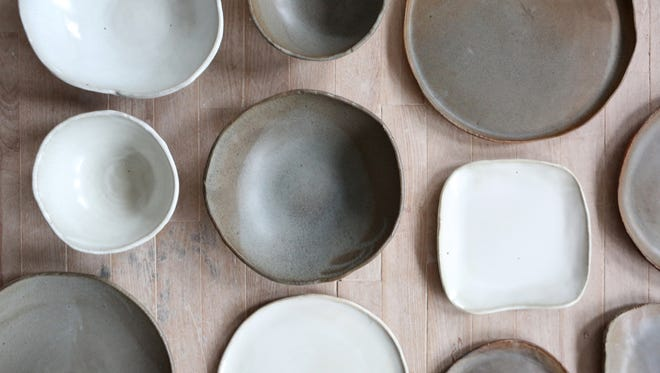 Potter Connor McGinn of Sleepy Hollow makes custom dinnerware for chefs in the lower Hudson Valley. Dinnerware by Connor McGinn photographed at the Clay Art Center in Port Chester Dec. 19, 2016.