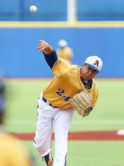 Angelo State starter Shane Browning pitches against